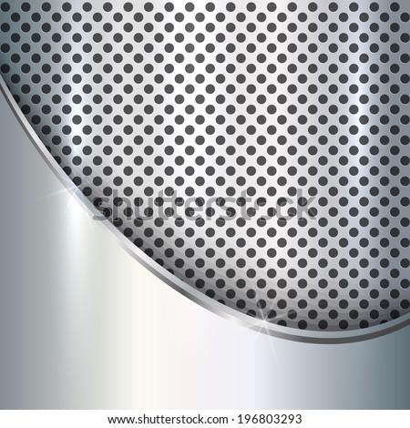 vector metallic silver