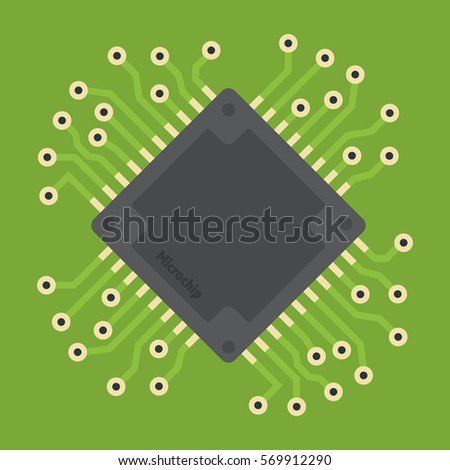 vector microchip illustration