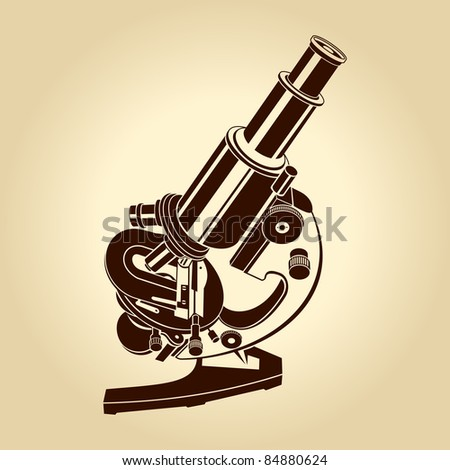 Vector microscope illustration science laboratory