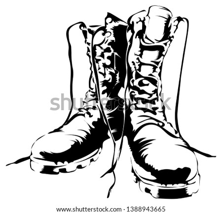 Vector Military Boots Army Forces