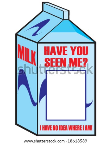 Vector milk carton with space for your picture stock vector