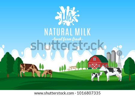vector milk illustration with