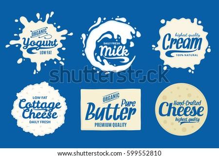 Vector milk product logo.