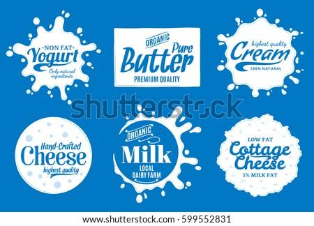 Vector milk product logo