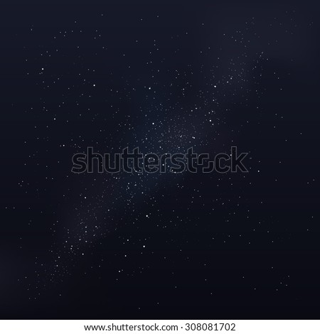 Vector milky way, vector night sky with stars