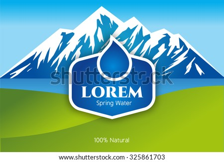 vector mineral bottled spring
