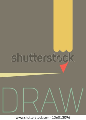 Vector Minimal Design Draw