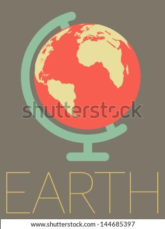 vector minimal design   earth...
