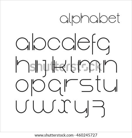 vector minimalist  alphabet