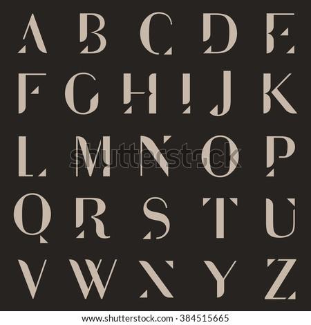 Vector Minimalist Alphabet Set Stock fotó ©