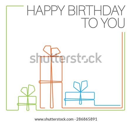 vector minimalist birthday card