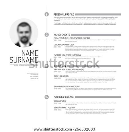 vector minimalist cv   resume