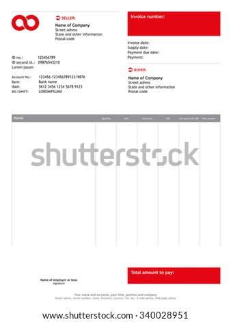 Amatospizzaus  Surprising Vector Minimalist Invoice  Business Template    With Fair Vector Minimalist Invoice  Business Template With Adorable Labcorp Invoice Also Free Printable Service Invoice Template In Addition Creative Invoice Template And Free Blank Invoice Forms As Well As Invoice Book Printing Additionally General Invoice Template From Shutterstockcom With Amatospizzaus  Fair Vector Minimalist Invoice  Business Template    With Adorable Vector Minimalist Invoice  Business Template And Surprising Labcorp Invoice Also Free Printable Service Invoice Template In Addition Creative Invoice Template From Shutterstockcom