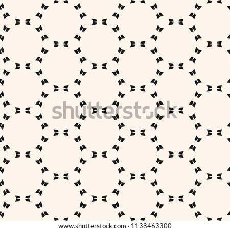 Vector minimalist seamless pattern, simple monochrome geometric texture with delicate grid, mesh, weave, lattice. Abstract minimal black and white background. Repeat design for print, decor, fabric