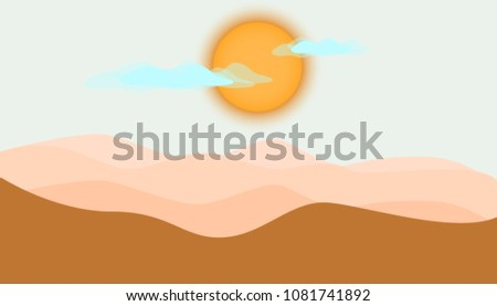 vector minimalistic landscape