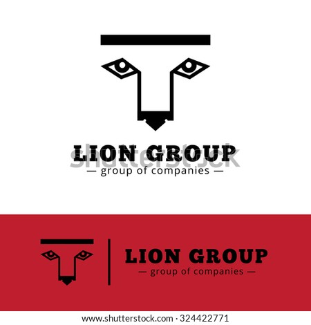 vector minimalistic lion logo
