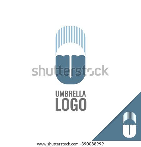 vector minimalistic umbrella