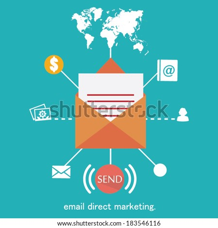 Vector mobile app - email marketing