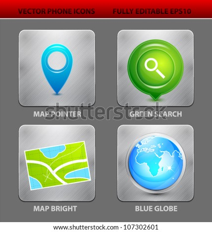 Apps Icons Vector Vector Mobile App Icon Set