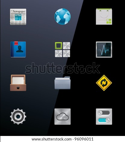 Vector mobile applications icon set. Part 2