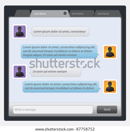 Vector mobile chat: message boxes for your text