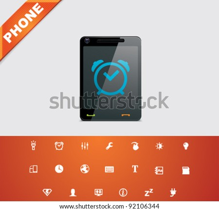 Vector mobile phone applications icon set Foto stock ©