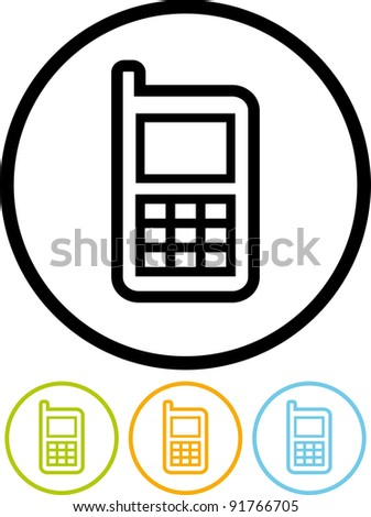 Vector mobile phone icon