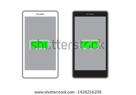 vector mobile phone , smart phone , full battery