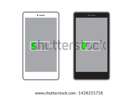 vector mobile phone , smart phone , low battery