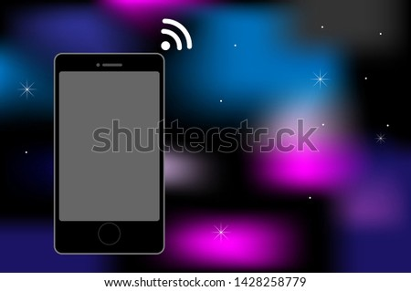vector mobile phone , smart phone , wireless , with space background