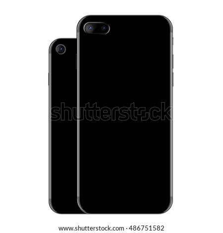 vector  mock up black phone