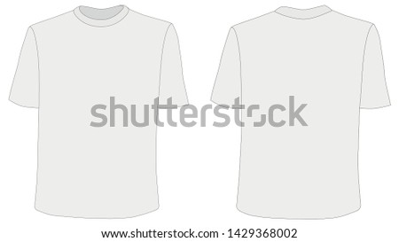 e3525c23 Vector mockup of blank t-shirts. Summer clothes in the front and back.