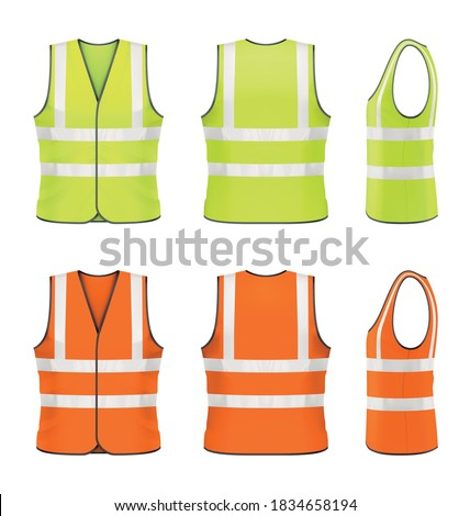Vector mockup of classic safety vest. Foto stock ©
