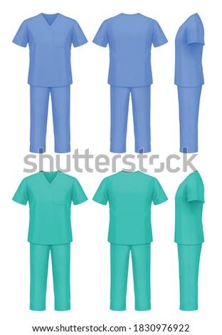 Vector mockup of medical scrubs. Stock photo ©
