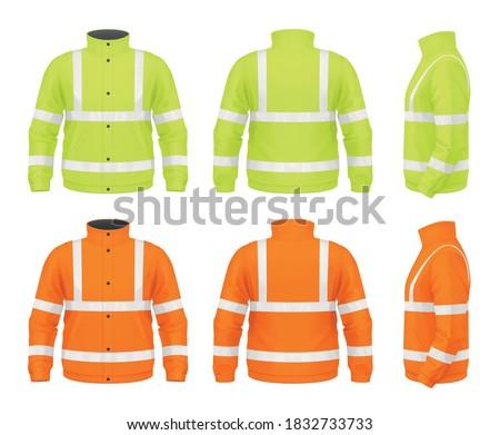 Vector mockup of safety jacket. Foto stock ©