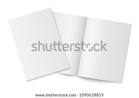 vector mockup of two thin books