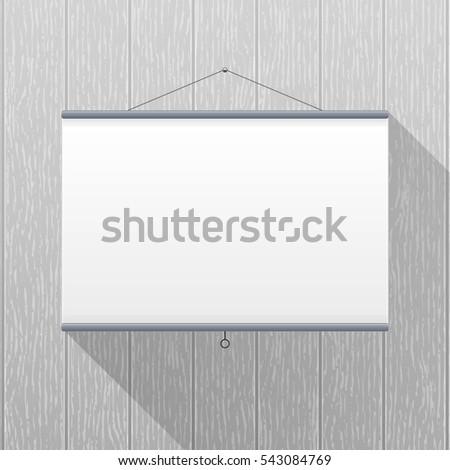 vector mockup projector screen