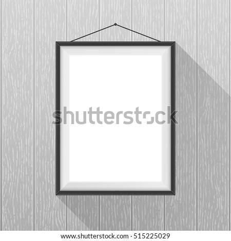 vector mockup white poster