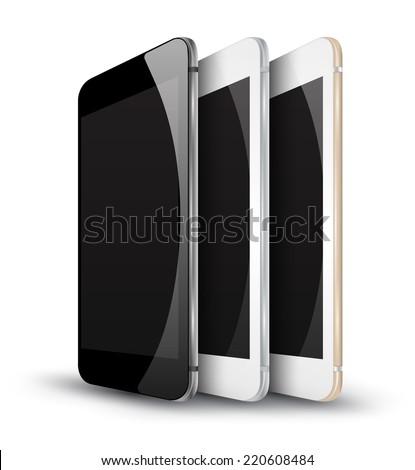 vector mockups realistic phone