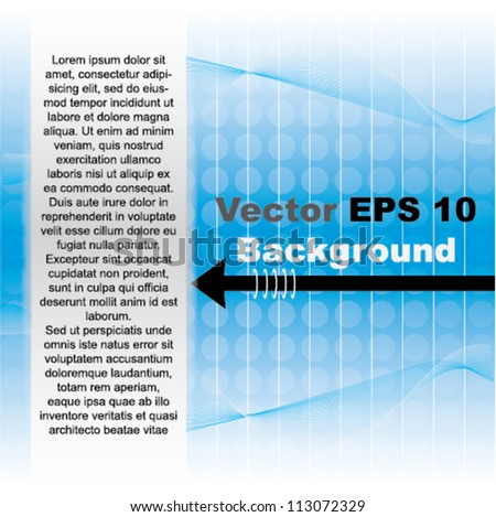 Vector modern abstract brochure design with arrow and place for text