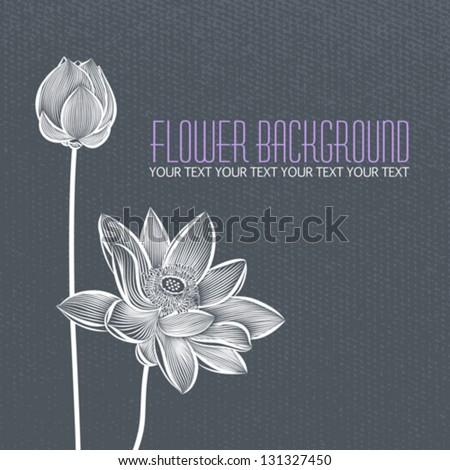 vector  modern abstract flower
