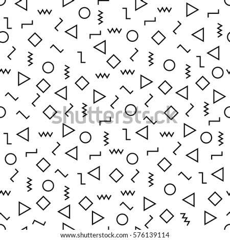 Vector modern abstract geometry memphis pattern.Colour seamless geometric background . Subtle pillow and bed sheet minimal design. Creative art deco. Hipster fashion print. Vector illustration EPS10.