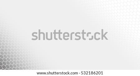 Vector modern background. Grey gradient honeycomb. Hexagon.