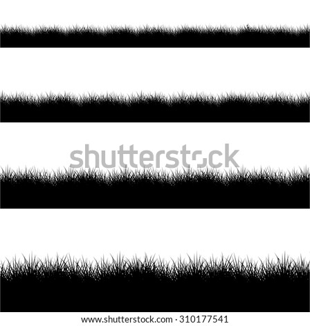 vector modern black grass