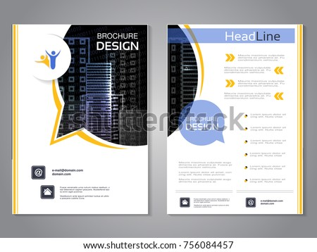 vector modern brochure rounded