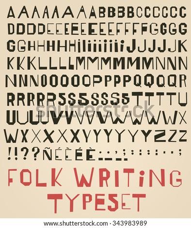 vector modern calligraphy
