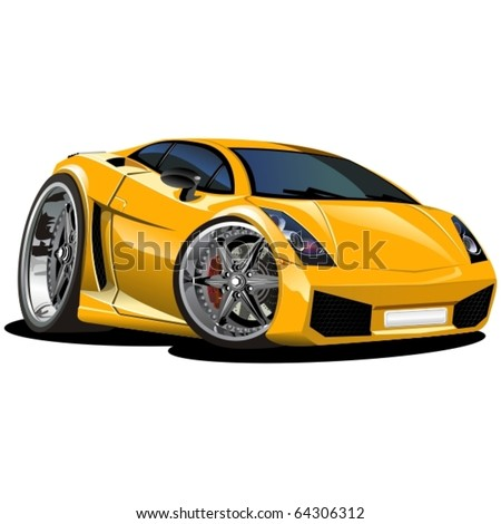 vector modern cartoon car see