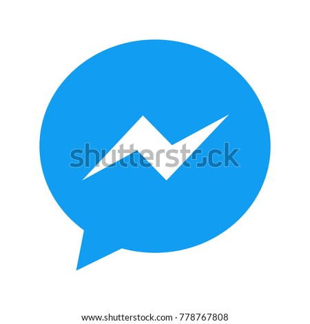 Vector modern chat app icon on white background