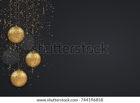 Vector modern Christmas or 2018 Happy New Year winter holiday invitation card background