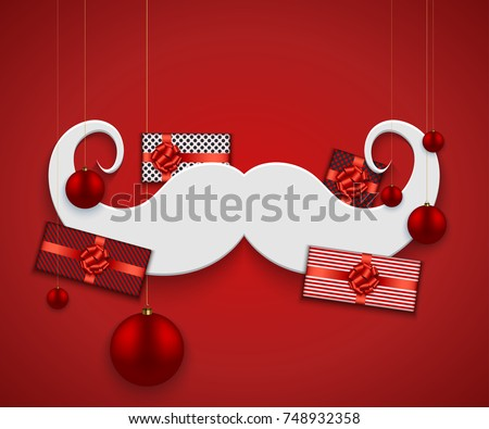 vector modern christmas or 2018